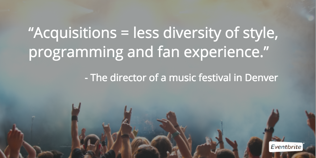 acquisitions in the music festival industry hurt fan experience