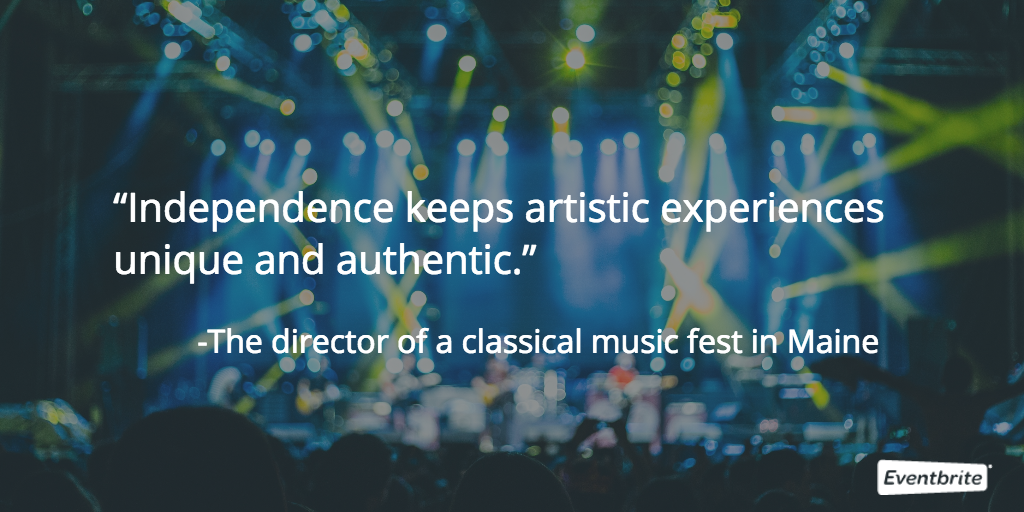 independence is key to the music festival industry
